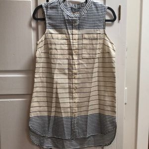 NWOT Striped Sleeveless Tunic